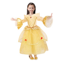 D beast cosplay dresses for girls belle princess kids girls costume dress christmas  4  thumb200