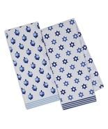 Hanukkah Printed Dish Towels Set of 2 New Dreidel Star of David Kitchen ... - $19.79