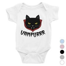 365 Printing Vampurrr Funny Halloween Cute Graphic Design Baby Bodysuit ... - $13.99