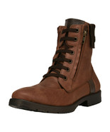 LibertyZeno Men's Genuine Leather Lace Up Ankle Length Casual Boots-JERRY - $54.44 - $64.99