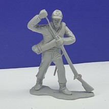 Louis Marx civil war toy soldier gray south confederate vtg figure ammo ... - $16.78