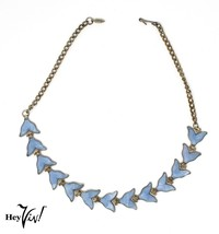 "Delicate Blue Bird Wings 16"" Choker Necklace - Graceful Curves - Hey Viv... - $26.00"