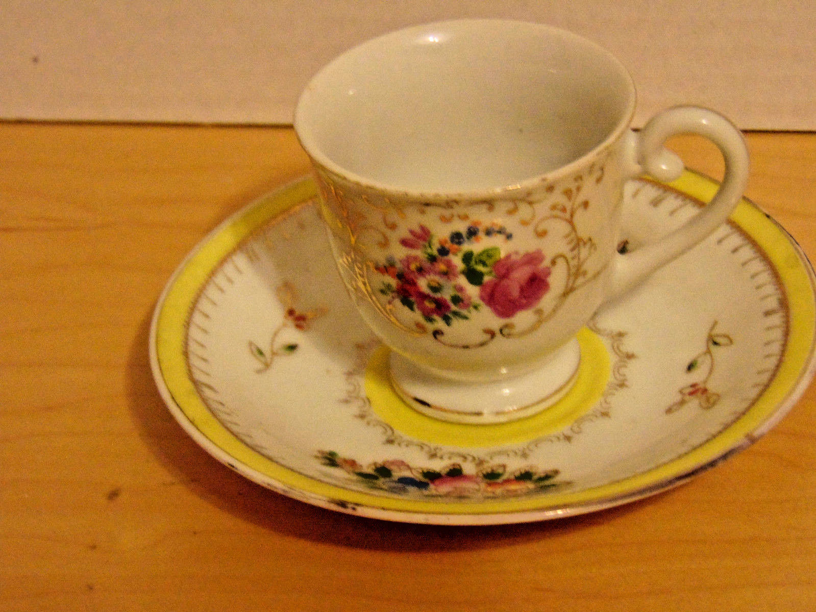 Vintage Miniature Cup & Saucer W/Flowers & and 50 similar items