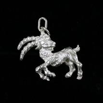 "Vintage .925 Sterling Silver 5.8g "" CAPRICORN "" Goat Zodiac Sign Pendant - $14.63"