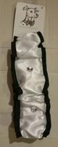 """Huxley & Kent Medium 14""""-18"""" White Satin Scrunchy Dog Collar Accessory Wedding - $4.99"""