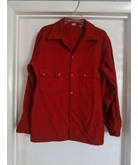 VINTAGE official BOY SCOUT BSA RED Wool SHIRT JACKET sz 42 - $28.70