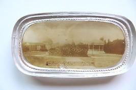 original GLASS ADVERTISING PAPERWEIGHT,Peristyle & Band Stand,Washington... - $33.25