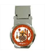 Funny Cartoon Mexican Printed Stainless Steel Money Clip Watch - $14.99