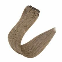 RUNATURE Clip in Human Extensions Real Brazilian Clip Extensions 20 Inches, 3pcs image 8