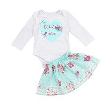Kids Baby Girl Family Matching Little Sister Top Romper Big Sister - $11.18+