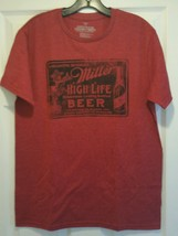 New Miller High Life Beer Retro Ad Adult Medium Soft Red T-shirt Milwaukee - $11.88