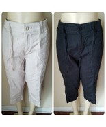 Lee Platinum Label Women's Capri Pants Cropped Lot of 2 Pair Stretch Wai... - $46.49