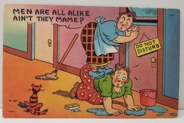 Comic Men Are All Alike Ain't They Mame? Tichnor Bros Unused Postcard C9 - $4.95