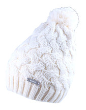 Bench Womens Seedpearl Acrylic Kuddle Bobble Beanie Winter Hat & Scarf Set NWT image 2