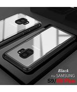 Samsung Galaxy S9 Tempered Glass Case, Soft Silicon TPU + Tempered Glass... - $9.89