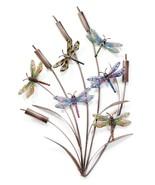 """Wall Decor Cattails & Dragonflies Metal 28"""" Tall 6 Dragonflies  - $109.99"""