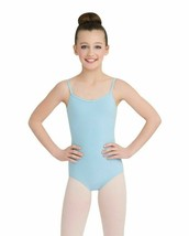 Capezio Girls Classics V Neck Camisole Leotard Light Blue Large - $14.72