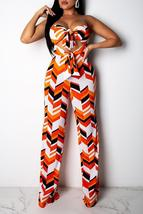 Sexy Printed Hollow-out One-piece Jumpsuit - $30.72