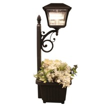 Gama Sonic Plantern Path Light w/4 Bright-White LED & Planter-Black - $49.08