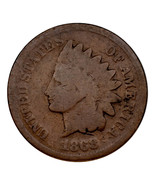 1868 Indian Head Cent 1C Penny (Good, G Condition) Full Complete Rims - £39.39 GBP
