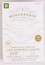 NEW Battery Operated Dewdrop Fairy Lights TWINKLING White 6hr/18hr TIMER image 1