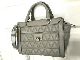 Michael Kors Vivianne Small Convertible Satchel / Messenger Bag- Pearl G... - $98.99