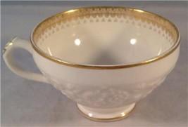 Vintage George Jones Rhapsody Crescent Demitasse Teacup Cream Gilded - $9.89