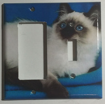Balinese Cat Light Switch Power Outlet Duplex Cover Plate Home Decor image 2