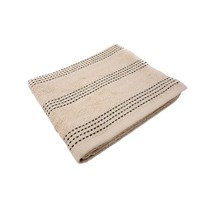10 X LUXURY STRIPED 100% COMBED COTTON SOFT ABSORBANT TAUPE LATTE HAND T... - $25.29