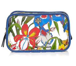 Tory Burch Floral irises Clear Cosmetic Case Pouch ~NWT - $61.37