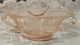 Old Vintage 30s Florentine #1 Pink Depression by Hazel Atlas Cream Soup Nut Bowl