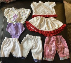 Vintage Lot Of 8 Cabbage Patch Kid clothes Outfits Handmade By Pro - $4.99
