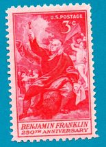 Scott  #1073  Mint US Postage Stamp 1955- Benjamin Franklin - $2.99