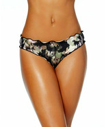 Lucky Brand Smoke Screen Cheeky Bikini Bottoms Size Small NWT - $17.41