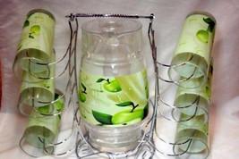 Housewares International 8 Piece Green Apples  Pitcher and Glass Drink s... - $15.93