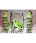 Housewares International 8 Piece Green Apples  Pitcher and Glass Drink s... - $14.48