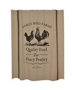 Early Bird Farms, Chicken, Poultry Shower Curtain - $49.99