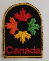 """Vintage Canada Maple Leaves Souvenir Embroidered Patch 2-3/4"""" x 2"""" - $4.95"""