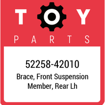 52258-42010 Toyota Brace Fr Suspension, New Genuine OEM Part - $25.61