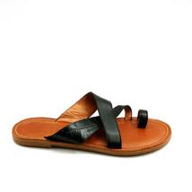 Caslon Womens Leather Criss Cross Toe Ring Slide Croc Print Sandals Blac... - $39.59