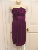NWT $169  SANGRIA Strapless Pleated Ruched Bodice Dress BUILT IN BRA SIZE 8 - $51.23