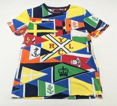 Polo Ralph Lauren Yacht Club All Over Print Graphic T Shirt Mens Size Small - $24.74