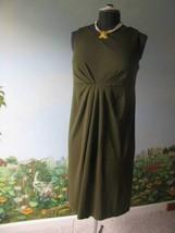 Liz Claiborne Petite Olive Green Women' Dress Size Large  NWT MSRP $119 - $63.53