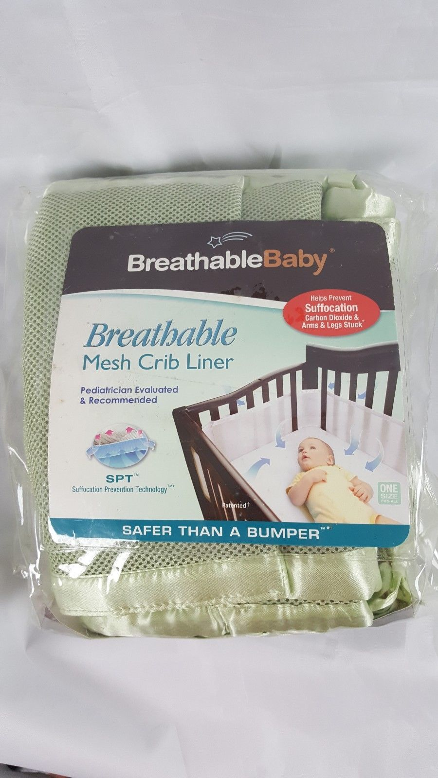 Primary image for Breathable Baby Mesh Crib Liner