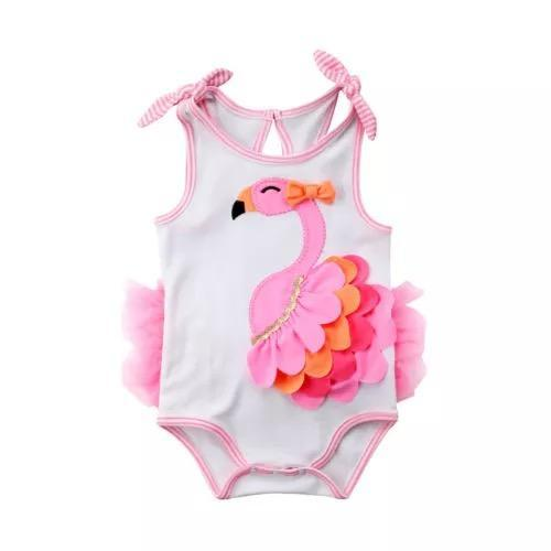 Cute baby girl sleeveless bodysuit clothes - $9.79