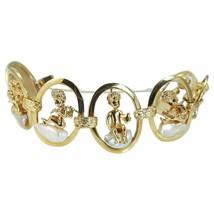 Ruser Baroque Pearl Sapphire Bracelet Angel Cherubs - $6,662.00