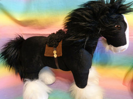 "Disney Store Brave Merida Angus Black Clydesdale Horse Plush Large 15"" - $19.75"