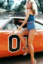 Catherine Bach sexy pose with General Lee 18x24 Poster - $23.99