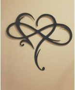 "Infinity Heart Metal Wall Art --Always & Forever Infinity  10 3/4"" x 12 1/4"" BK - $18.99"