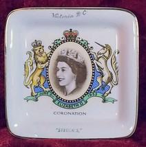 Sandland Ware Butter Dish Queen Elizabeth 2 Coronation, Staffordshire En... - £9.87 GBP